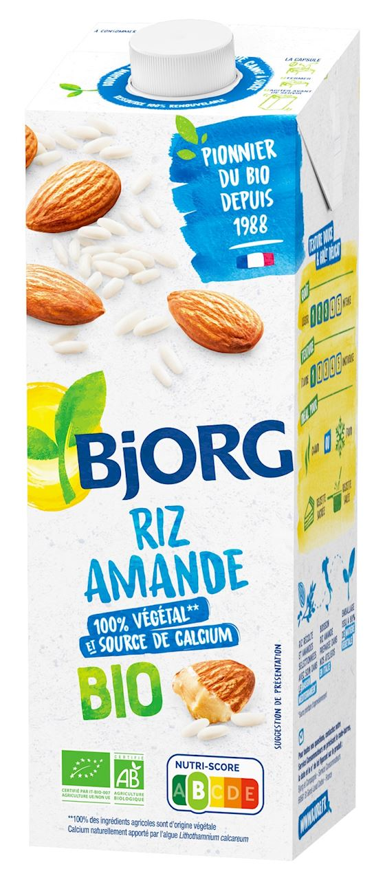 RICE AND ALMOND DRINK WITH ALGAE BIO 1 L