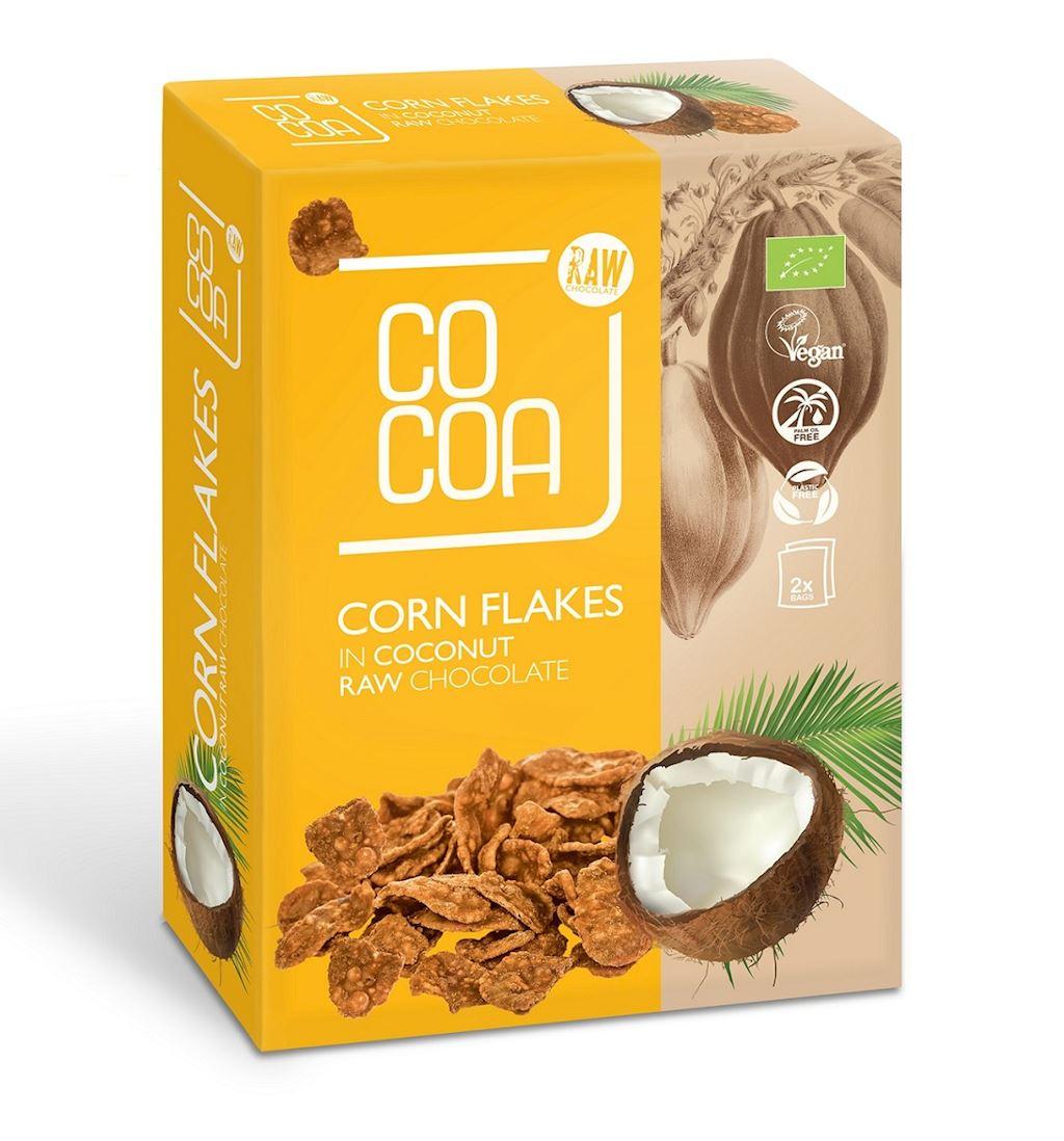 CORN FLAKES IN RAW COCONUT CHOCOLATE BIO 2 x 100 g
