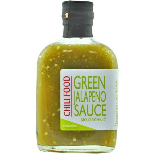 GREEN JALAPENO CHILI SAUCE BIO 185 ml