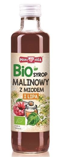 RASPBERRY SYRUP WITH HONEY AND LINDEN EXTRACT BIO 250 ml