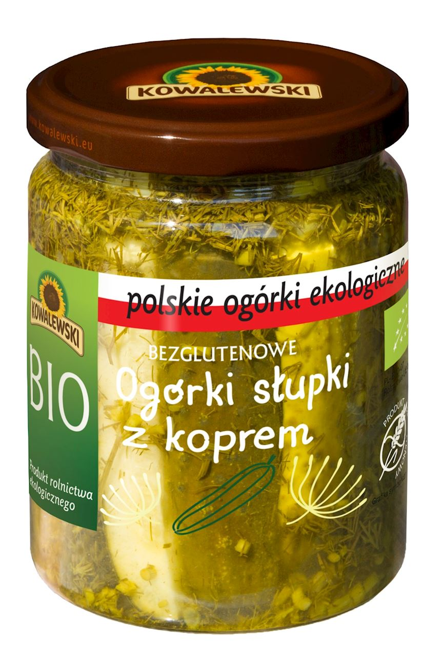 PICKLED CUCUMBER WITH DILL BIO 480 g (260 g)