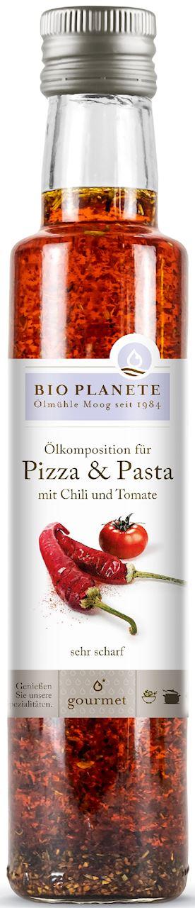 CHILI AND TOMATO OIL FOR PASTA AND PIZZA BIO 250 ml