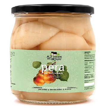 PEARS IN RICE SYRUP BIO 550 g (330 g)