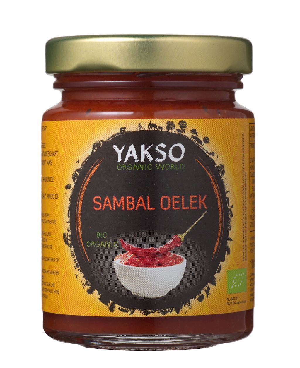 CHILI SAUCE SAMBAL OELEK BIO 100 g