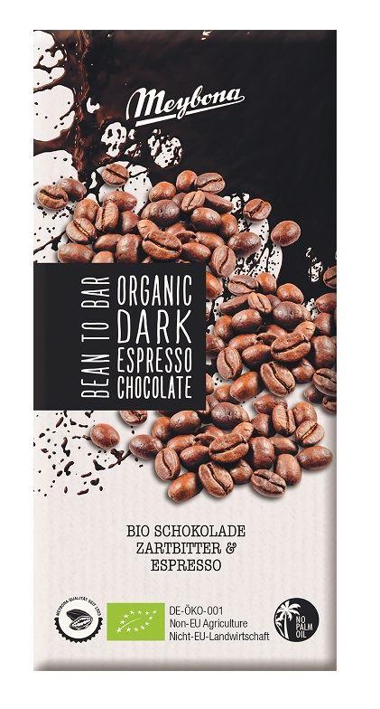 BITTER CHOCOLATE WITH ESPRESSO NIBS BIO 100 g