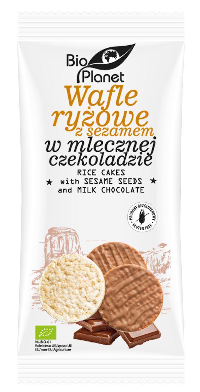 RICE WAFFLES WITH SESAME SEEDS AND MILK CHOCOLATE BIO 100 g