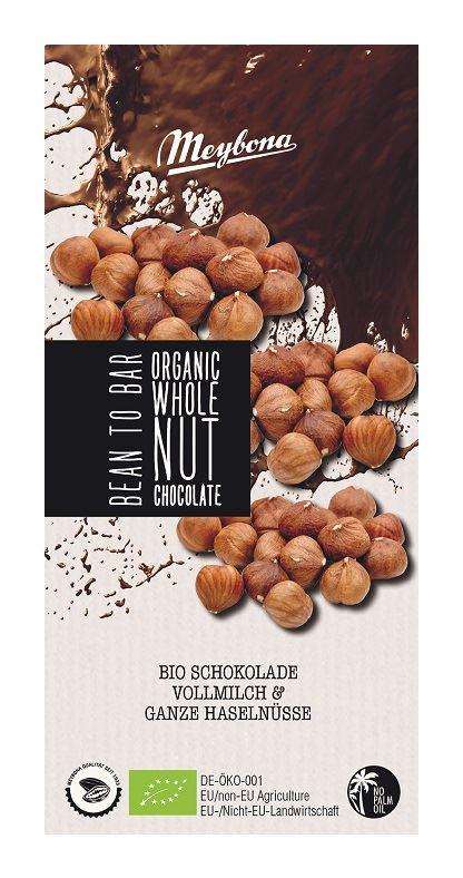 MILK CHOCOLATE WITH WHOLE HAZELNUTS BIO 100 g