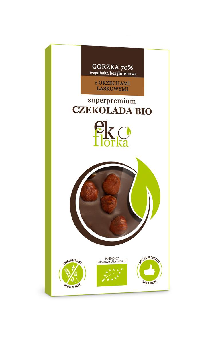 PREMIUM DARK CHOCOLATE WITH HAZELNUTS BIO 85 g