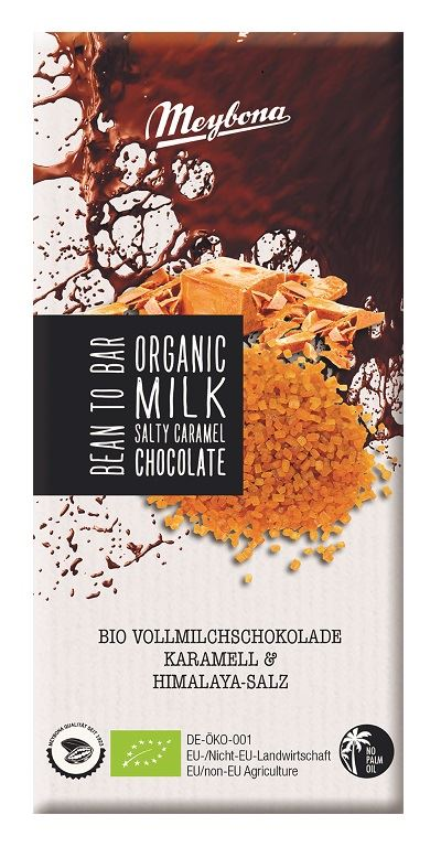 MILK CHOCOLATE WITH CRUNCHY CARAMEL AND PAKISTAN ROCK SALT BIO 100 g
