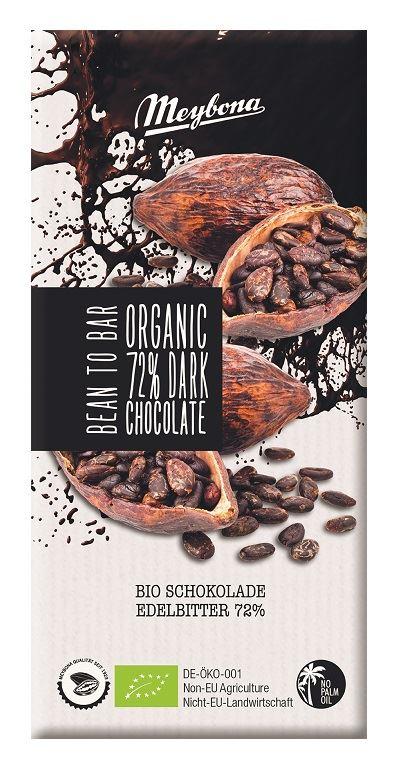 BITTER CHOCOLATE 72 % BIO 100 g